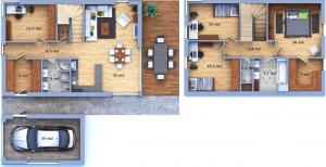 Dispozice luxusního domu 14