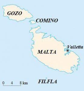 Malta - mapka