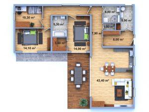 dům 13 půdorys