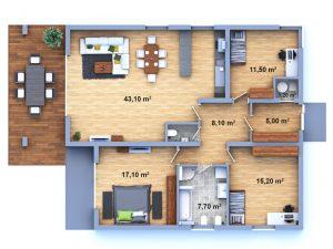 dům 25 půdorys