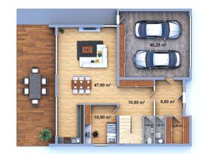 luxusní dům 33 půdorys přízemí