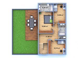 luxusní dům 33 půdorys patro