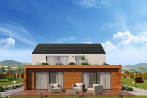 Luxusní dům na klíč nabízí střešní terasu a dvě garáže