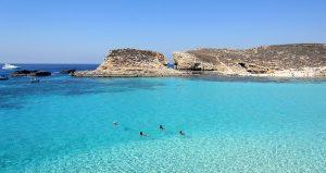 malta - moře a útesy