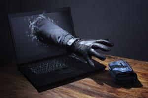 online shoping - černá ruka